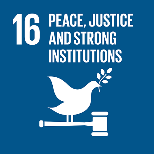 SDG goal 16 – Peace, justice and strong institutions